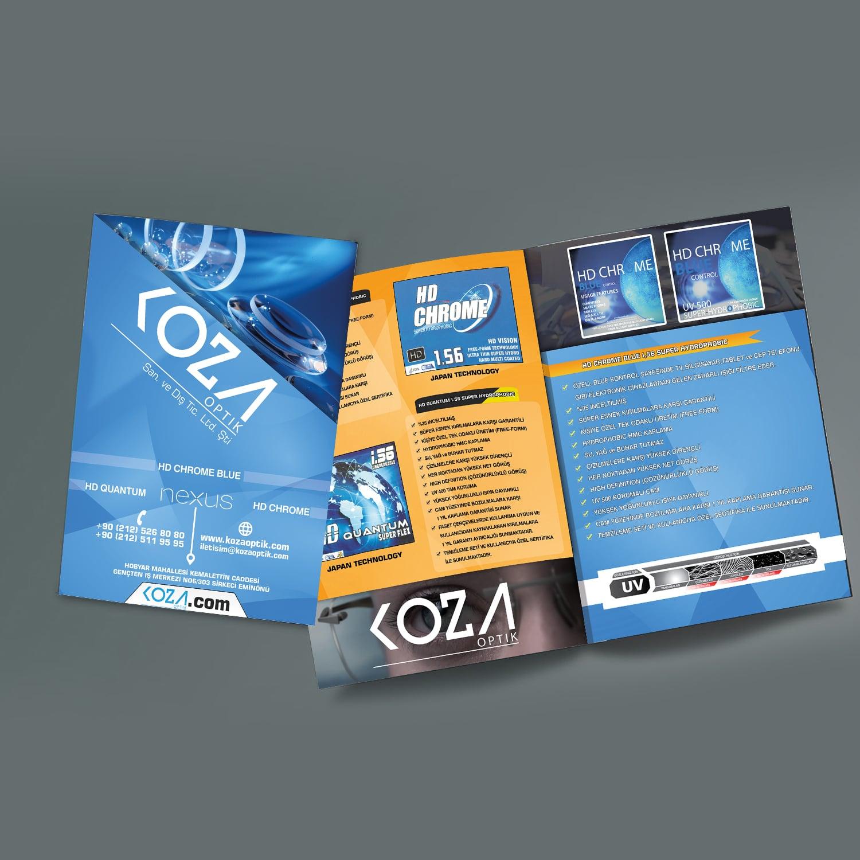 Gözlük sektörü için Koza Optiğe hazırlanan katalog tasarımı - Ajans724.com