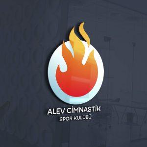 Alev Cimnastik Logo Tasarımı