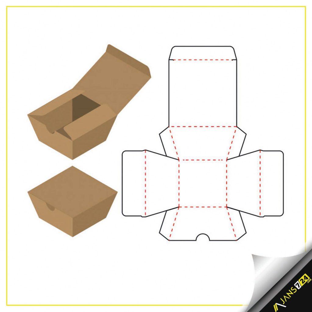 Özel kesim kutu tasarımı.