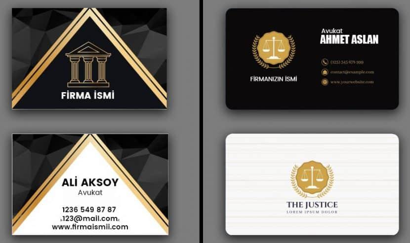 avukat ve hukuk bürosu kartvizit tasarımları