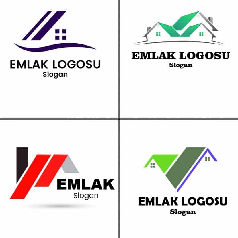 Emlak logosu örnekleri.
